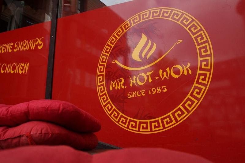 Mr. Hot-Wok Muenster außen Logo Sitzkissen